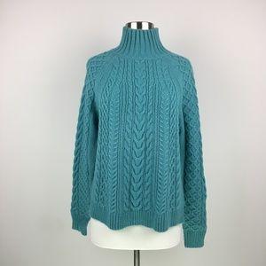 NWT Ann Taylor Alpaca Wool Blend Teal Sweater M